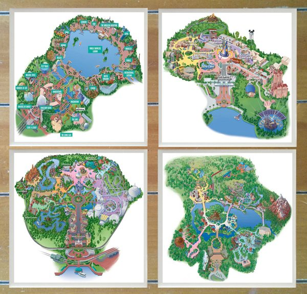 Disney Park Maps Coasters Review and Giveaway - WDW Hints on