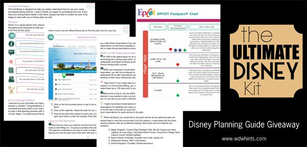 Disney Planning Guide Giveaway