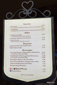 germany menu