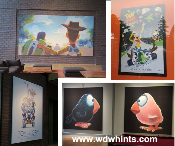 pixar offices art