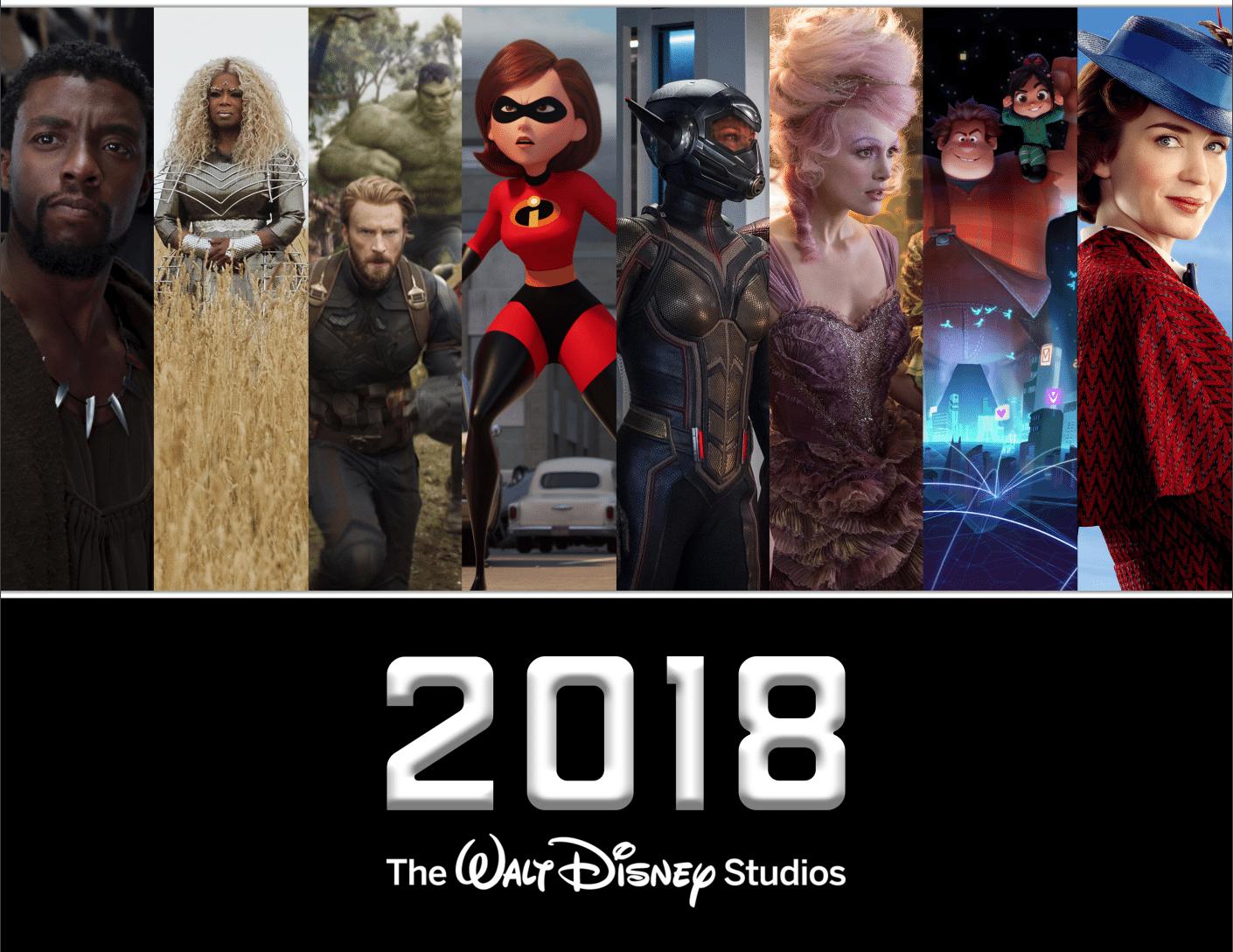 2018DisneyMovies